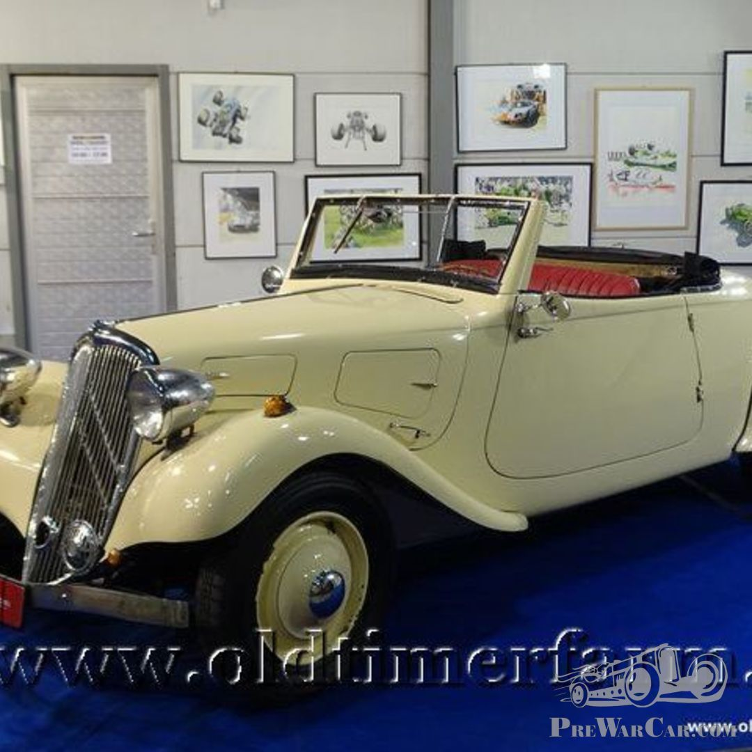 WELLY OLD TIMER 1939 CITROEN 11B TRACTION AVANT CABRIO ROT MIT DACH 1:34