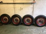 Rudge Whitworth wheels / tyres ( & parts) for Bentley