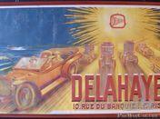 Original Delahaye poster text on poster Delahaye 10. rue de banquier Paris