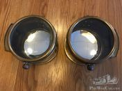 Pair of Summa light brass acetylene headlights