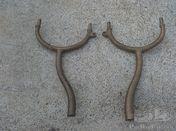 Veteran Benz W3 / W6 brass headlight forks