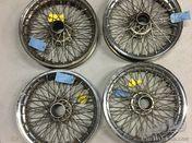 Set of 4 Borrani wheels 19x4.00
