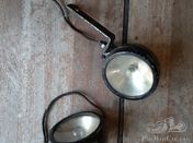 Two black side lamps
