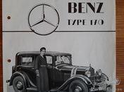 Dutch sales brochure Mercedes Benz Type 170