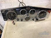 RILEY ROTAX DASHBOARD WITH INSTRUMENTS , CLOCK SPEEDO OIL / FUEL / AMPS GAUGE