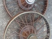Veteran Berliet wire spoke wheels