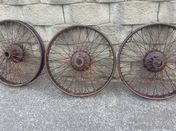 Three beaded edge wire wheels - Siddeley Deasy