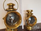 LARGE JOSEPH LUCAS KING OF THE ROAD NO.744 BRASS LAMP