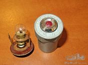 Lucas WL12 Red Warning Lamp Assembly - Original New Old Stock