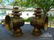 Pair of German Brass-lamps