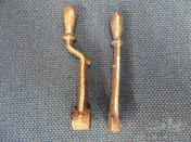 Brass Castings of Darracq Advance & Retard Lever and Hand Throttle Lever