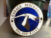 CAR BADGE DEALER PLAQUE DASH BOARD VERY RARE FRENCH GARAGE