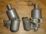 A pair of SU carburettors