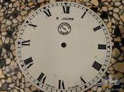 Jaeger Paris dial 8 jours with Roman numerals colour white