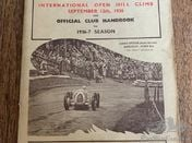 Shelsley Walsh official programme 1936