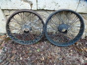 2 Wheels with Rudge Hubs for Amilcar in 18 ''