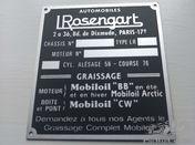 Bodywork badge Rosengart