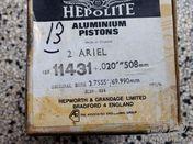 Hepolite 2 x Ariel Aluminium pistons