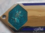 St. Christophe dashboard badge / engraving can be placed
