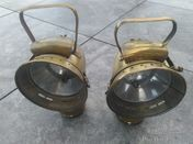 A pair of Riemann Mod.No. 330 Acetylene side lamps, very good condition