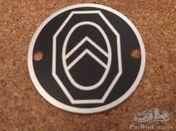 Citroen badge round aluminium