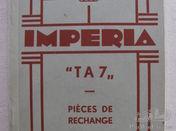 Imperia TA7 parts list 1935.