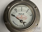 Original Bugatti oil pressure gauge