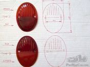 Taillight lenses for 1932-1935 Chevrolet car & truck