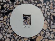 2 x OS Plaquette Citroen B14 aluminium