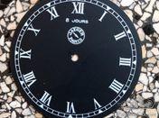 Jaeger Paris dial 8 jours with Roman numerals
