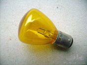 6V 15W yellow bulb w. twin contact