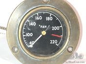 Brass bezel temperature gauge