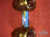 A beautiful pair of polished brass Summa side lights