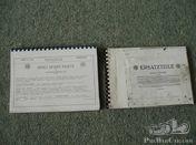 Benz documentation (parts book) for Benz