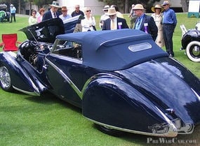 Driven Art. Rare 1936 Delahaye 135 Competition Streamlined Disappearing Top Convertible, Figoni-Falaschi