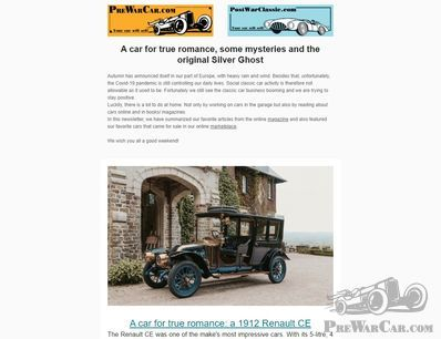 A car for true romance, some mysteries and the original Silver Ghost – NEWSLETTER
