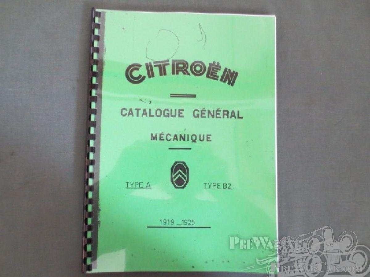 Citroën documentation (parts book) for Citroën