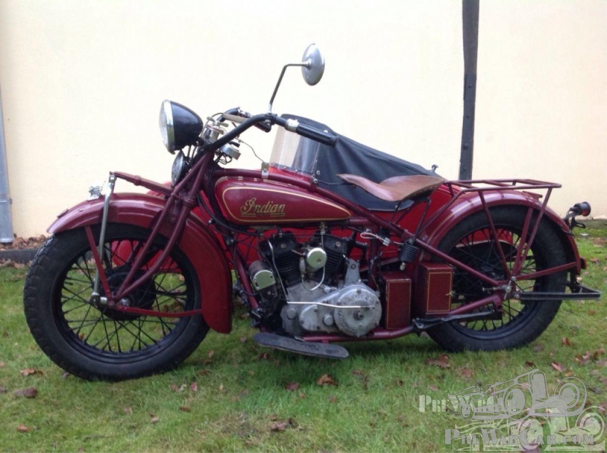 Motorbike Indian Scout 101 sidecar for sale - PreWarCar