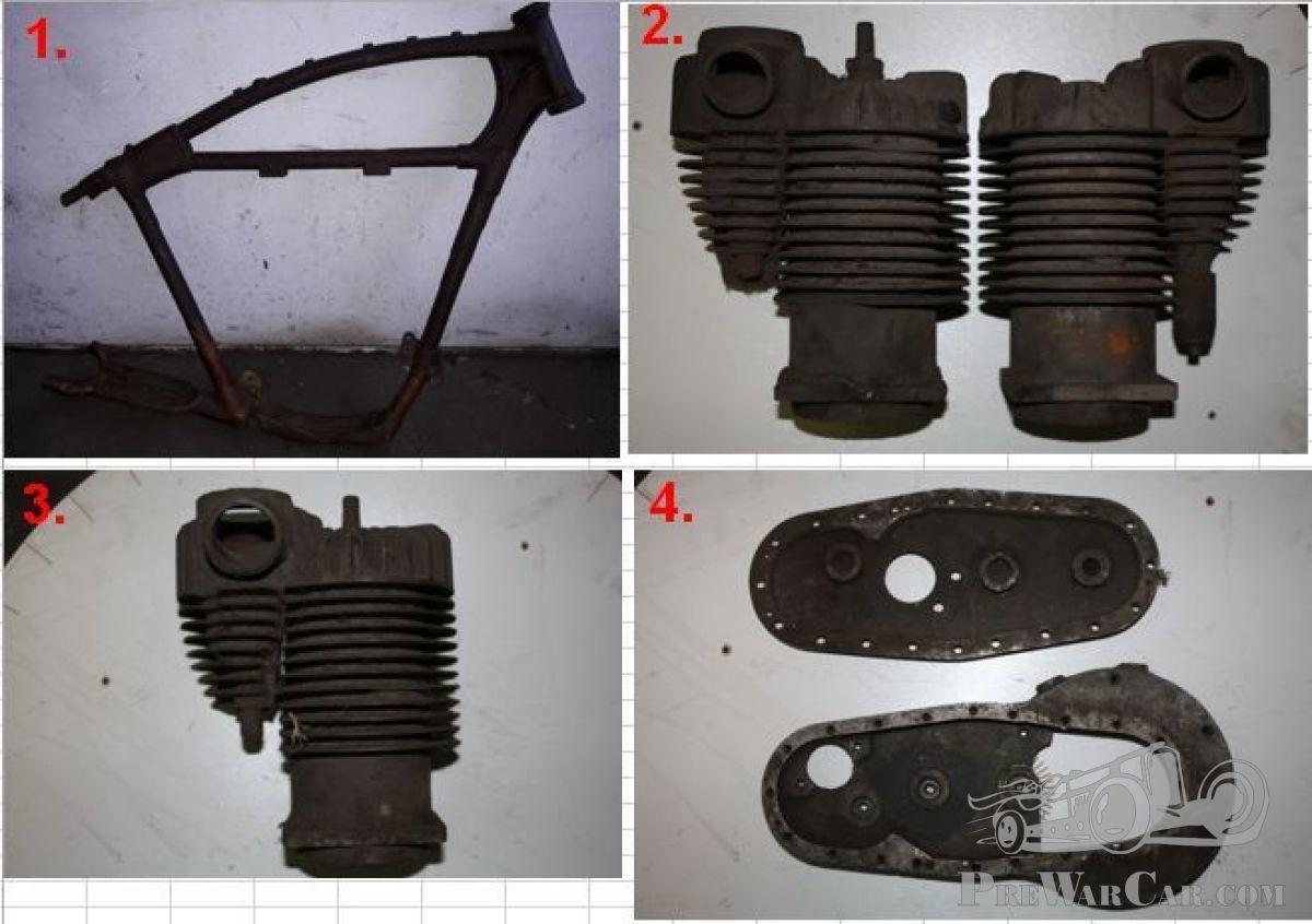 Part Harley Davidson Frame + parts Wanted parts! for sale - PreWarCar