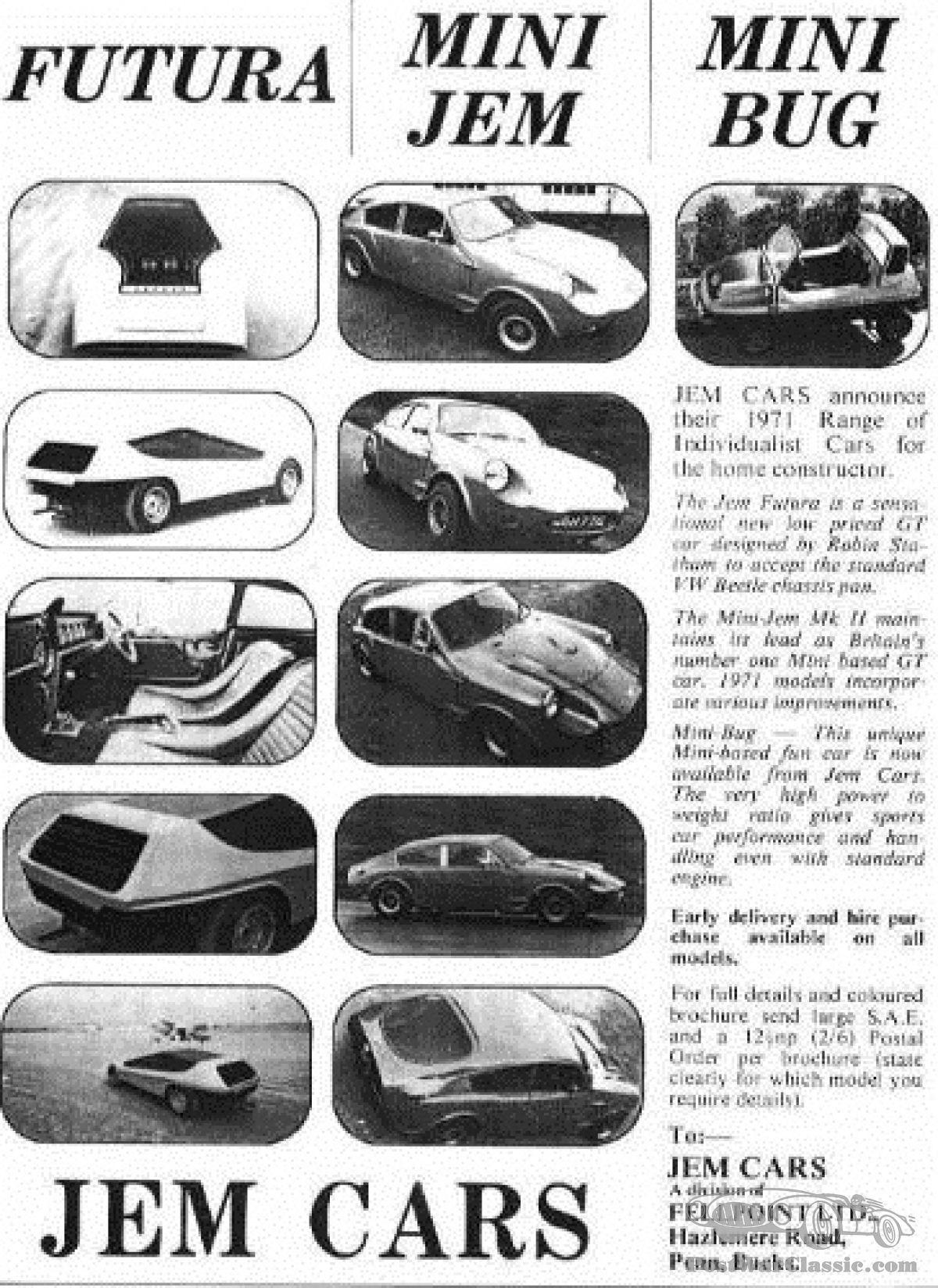 About Tough to Crack Car Puzzle #196: 1971 Jem Futura - PostWarClassic